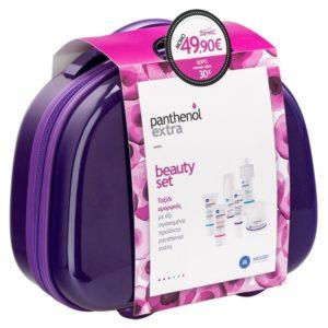 Panthenol Extra Beauty Set με 6 Προϊόντα & ΔΩΡΟ Νεσεσέρ Βαλιτσάκι σε Λευκό Χρώμα