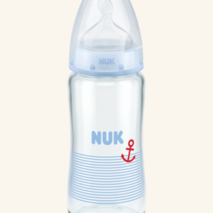 NUK First Choice Plus Μπιμπερό γυάλινο 240ml με θηλή