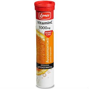 LANES – Vitamin C 1000mg + Ginseng | 20eff.tabs