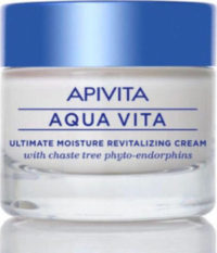 Apivita Aqua Vita Κρέμα Εντατικής Ενυδάτωσης και Αναζωογονησης με Φυτοενδορφίνες Λυγαριάς (Κανονικές/Ξηρές Επιδερμίδες) 50ml