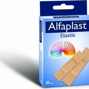Alfa Gauze – Αυτοκόλλητα Επιθέματα Μικροτραυμάτων ALFAPLAST ELASTIC 2 Sizes, 20S/BOX