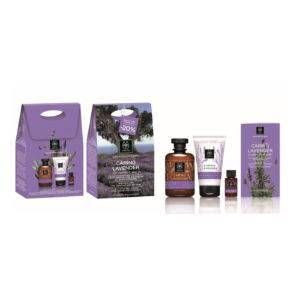 Apivita Promo Caring Lavender, Αφρόλουτρο 300ml & Ενυδατική Κρέμα 150ml & Ενυδατικό Λάδι 20ml