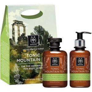 Apivita PromoTonic Mountain Tea Αφρόλουτρο 300ml & Ενυδατικό Γαλάκτωμα Σώματος 200ml