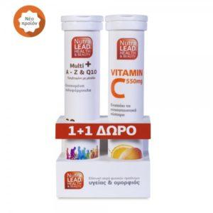 VITORGAN – NUTRALEAD Multi+ A To Z + Βιταμίνη C 550mg