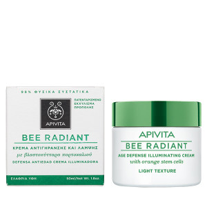 Apivita Bee Radiant Κρέμα πλούσιας υφής με βλαστοκύτταρα πορτοκαλιού 50 Ml