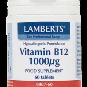Lamberts Vitamin B12 1000mcg 60 ταμπλέτες